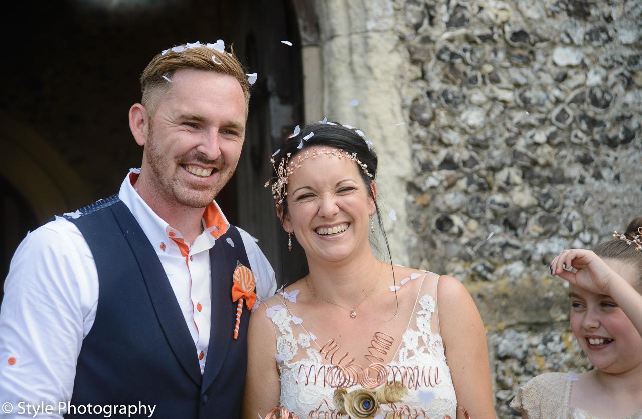 Beautiful country garden wedding at St Peters & St Pauls Church, Eythorne and Elvington Court Nursery