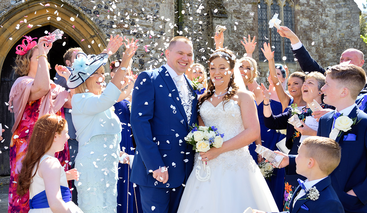 St Mary Magdelene Church, Cobham Wedding and Southern Valley Golf Course